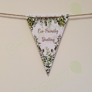 Eco Friendly Threaded Wool & Paper Bunting