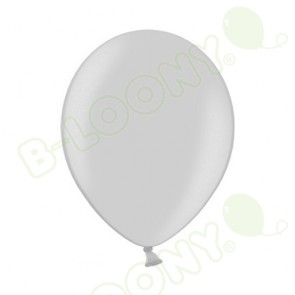 "B Range 10"" Pearlshine Silver 061 Latex Balloons (Each)"