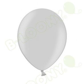 "B Range 10"" Pearlshine Silver 061 Latex Balloons (Each)"