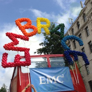 Embrace Bus Balloon Sculpture by B-Loony Ltd