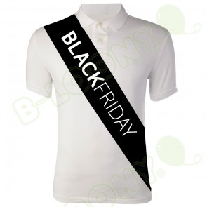 Black Friday Custom Printed Promotional Sashes