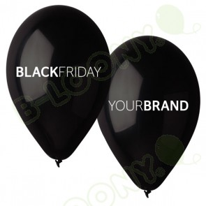 Black Friday Custom Printed Natural Rubber Balloons