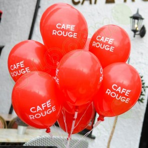 Cafe Rouge custom print promotional latex balloons