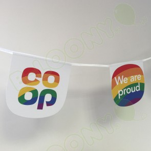 The Co-Operative We Are Proud Pride Bespoke Printed Bunting