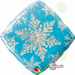 """Foil 18"""" Snowflakes Sparkles Blue"""