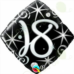 "Foil 18"" Elegant Sparkles & Swirls Helium Balloon"