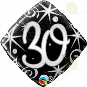 "Foil 18"" Elegant Sparkles & Swirls 30 Helium Balloon"