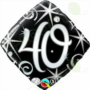 "Foil 18"" Elegant Sparkles & Swirls 40 Helium Balloon"