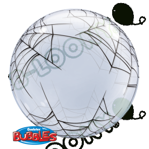 24 Inch Deco Bubble Balloon Spider's Web