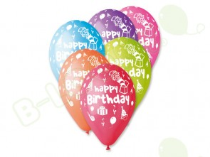 Happy Birthday Balloons in Assorted Colours 12