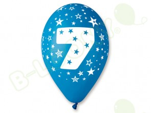 Number 7 Birthday Balloons in Assorted Colours 12