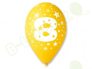 Number 8 Birthday Balloons in Assorted Colours 12