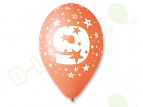 Number 9 Birthday Balloons in Assorted Colours 12
