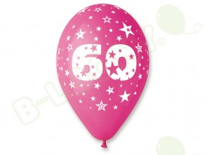 Number 60 Birthday Balloons in Assorted Colours 12