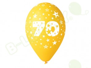 Number 70 Birthday Balloons in Assorted Colours 12