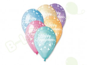 Happy Engagement Balloons in Assorted Colours 12