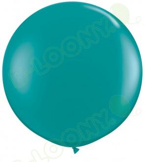 "Qualatex 36"" Latex Balloon Jewel Teal (Pack of 2)"