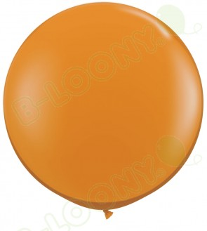 "Qualatex 36"" Latex Balloon Mandarin Orange (Pack of 2)"
