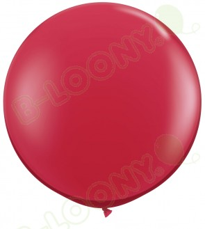 """Qualatex 36"""" Latex Balloon Ruby Red (Pack of 2)"""