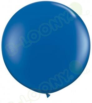 "Qualatex 36"" Latex Balloon Sapphire Blue (Pack of 2)"