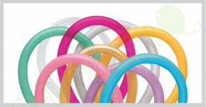 260Q Entertainer Modelling Balloons in Assorted Colours (Pack of 100)