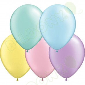 "5"" Latex Balloon Pastel Pearl Assorted (Pack of 100)"