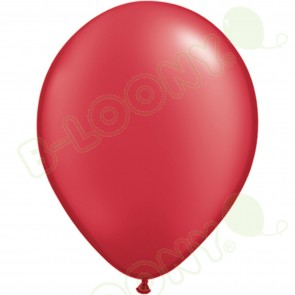 "5"" Latex Balloon Pearl Ruby Red (Pack of 100)"