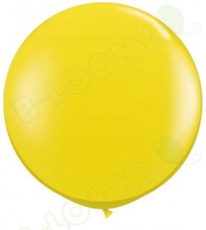 """Qualatex 36"""" Latex Balloon Citrine Yellow (Pack of 2)"""