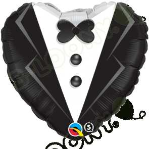 "Qualatex 18"" Foil Balloon Wedding Tuxedo (Black and White)"