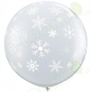 Giant Diamond Clear Snowflakes & Sparkles Balloons
