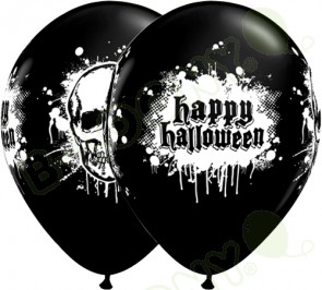 11 Inch Latex Balloons Halloween Haunted Skull