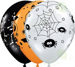 11 Inch Latex Balloons Spooky Assortment