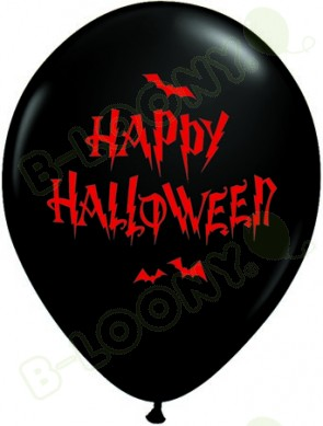 11 Inch Latex Balloons Haunted Halloween Bats