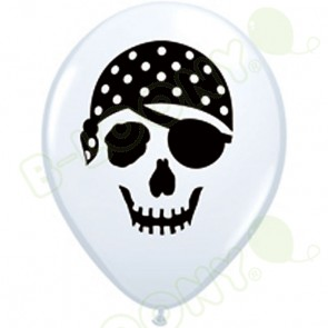 5 Inch Latex Balloons Pirate Skull