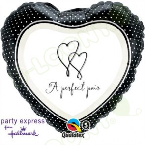 "Qualatex 18"" Foil Balloon A Perfect Pair Front (Hallmark)"