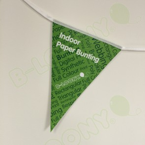 Custom Printed Indoor Paper Bunting