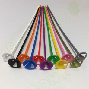 One Piece Child Safe Coloured Balloon Sticks