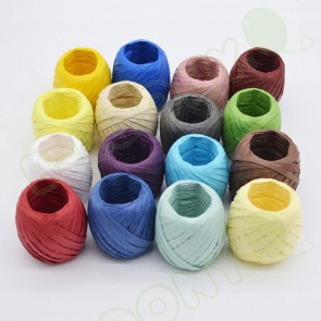 Rolls of Coloured Raffia Ribbon