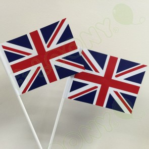 Union Jack Hand Waving Flags