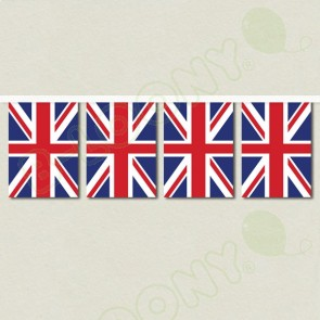 Union Jack Bunting with White Webbing