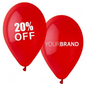 Percentage % Off Printed Latex Balloons