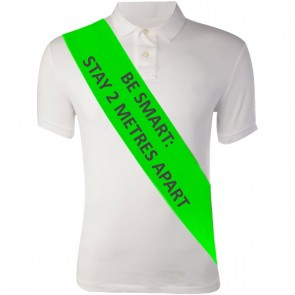 Social Distancing Staff Sashes