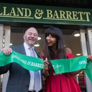 Bespoke Printed Store Opening Ribbon for Holland & Barrett