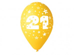 Number 21 Birthday Balloons in Assorted Colours 12
