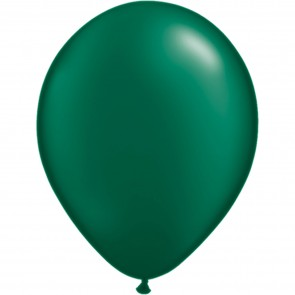 """5"""" Latex Balloon Pearl Forest Green (Pack of 100)"""