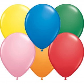 """5"""" Latex Balloon Standard Assorted (Pack of 100)"""
