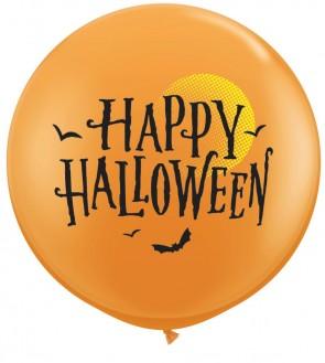 36 Inch Latex Balloons Halloween Moon & Bats