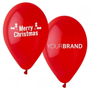 Merry Christmas Printed Latex Balloons
