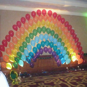 Balloon Arch in Pride Colours