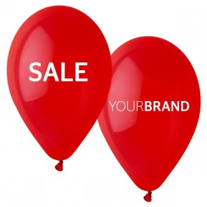 Printed SALE Latex Balloons Red
